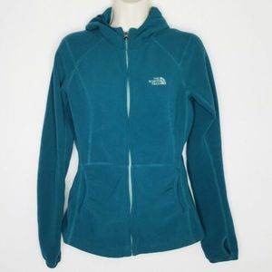 Womens The North Face Fleece Jacket M Green Teal